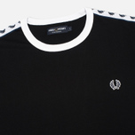 Fred Perry Taped Ringer Men's T-shirt Black photo- 1