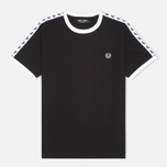 Fred Perry Taped Ringer Men's T-shirt Black photo- 0