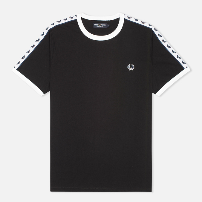 Fred Perry Taped Ringer Men's T-shirt Black