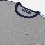 Fred Perry Taped Ringer Men's T-shirt Steel Marl photo- 0