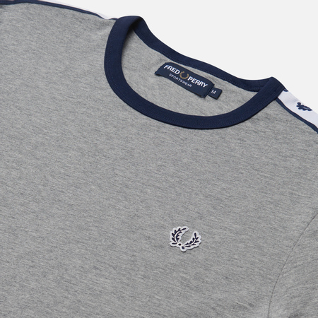Мужская футболка Fred Perry Taped Ringer Steel Marl