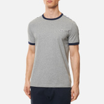 Мужская футболка Fred Perry Taped Ringer Steel Marl фото- 1