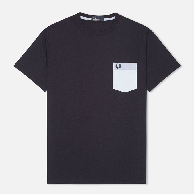 Мужская футболка Fred Perry Woven Patch Pocket Navy