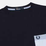 Мужская футболка Fred Perry Woven Patch Pocket Navy фото- 1