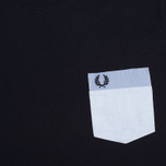Мужская футболка Fred Perry Woven Patch Pocket Navy фото- 2