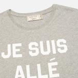 Maison Kitsune Je Suis Alle Men's T-shirt Grey Melange photo- 1