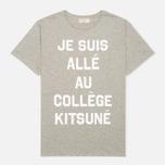 Maison Kitsune Je Suis Alle Men's T-shirt Grey Melange photo- 0