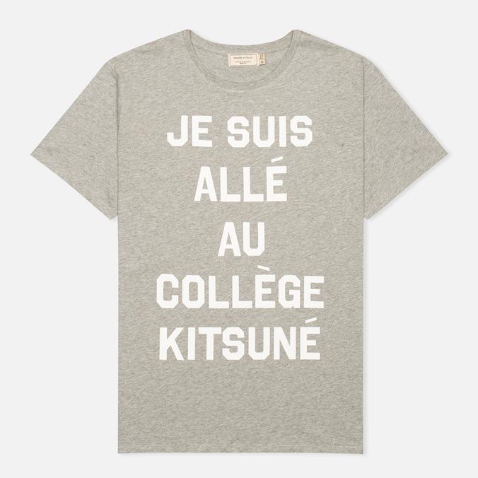 Мужская футболка Maison Kitsune Je Suis Alle Grey Melange
