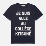 Maison Kitsune Je Suis Alle Men's T-shirt Navy photo- 0