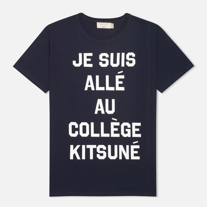 Maison Kitsune Je Suis Alle Men's T-shirt Navy