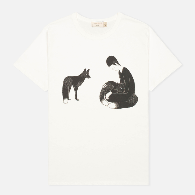 Мужская футболка Maison Kitsune Moonassi Pray White