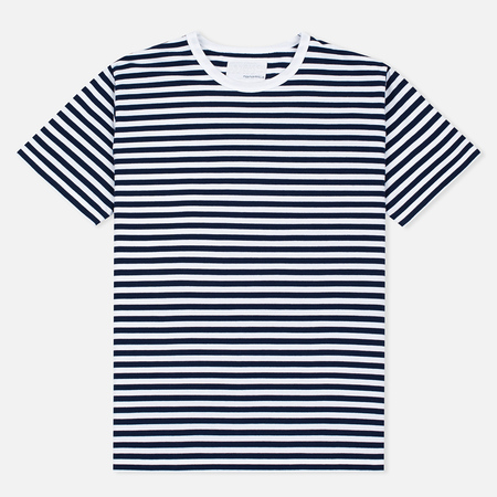 Мужская футболка Nanamica Coolmax St. Jersey Navy/White