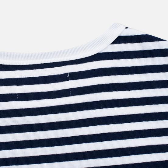 Мужская футболка Nanamica Coolmax St. Jersey Navy/White
