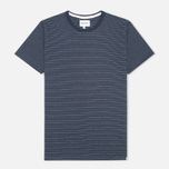 Мужская футболка Norse Projects Niels Interlock Navy фото- 0