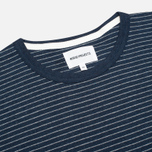 Мужская футболка Norse Projects Niels Interlock Navy фото- 1
