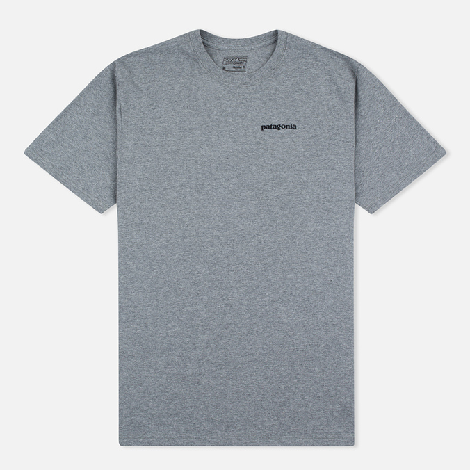 Мужская футболка Patagonia P-6 Logo Cotton Gravel Heather