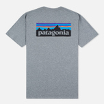 Мужская футболка Patagonia P-6 Logo Cotton Gravel Heather фото- 3