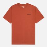 Patagonia P-6 Logo Cotton Men's T-shirt Crater Rusted Iron photo- 0
