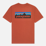 Patagonia P-6 Logo Cotton Men's T-shirt Crater Rusted Iron photo- 1