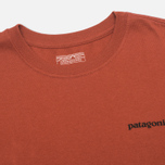 Patagonia P-6 Logo Cotton Men's T-shirt Crater Rusted Iron photo- 2