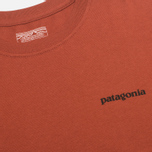 Patagonia P-6 Logo Cotton Men's T-shirt Crater Rusted Iron photo- 3