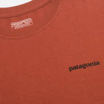 Мужская футболка Patagonia P-6 Logo Cotton Rusted Iron фото- 3
