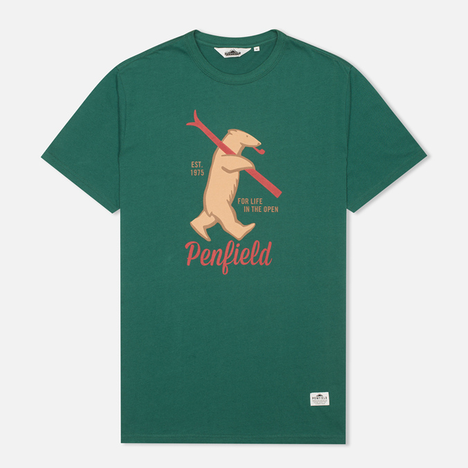 Penfield Ski Bear Men's T-shirt Green