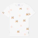 Мужская футболка Reebok x Maison Kitsune AOP Tee White фото- 0