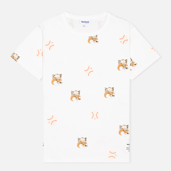 Мужская футболка Reebok x Maison Kitsune AOP Tee White