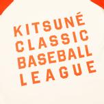 Reebok x Maison Kitsune Baseball Tee Men's T-shirt CWhite/BOrange photo- 2