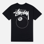Мужская футболка Stussy 8 Ball Black фото- 2