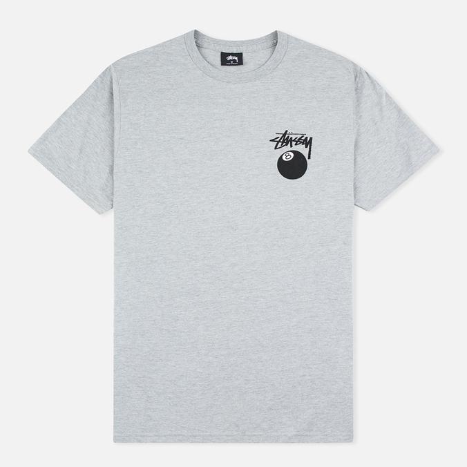 Мужская футболка Stussy 8 Ball Grey Heather