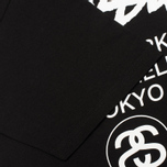 Stussy World Tour Men's T-shirt Black photo- 3