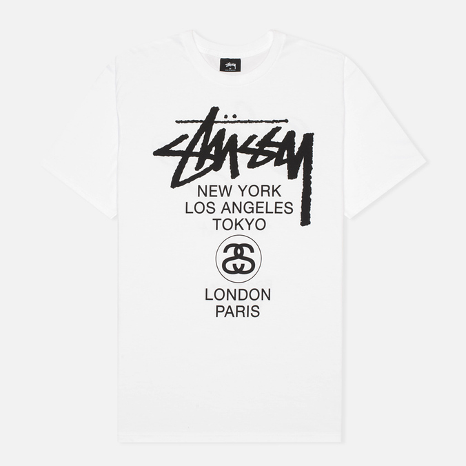 Stussy World Tour Men's T-shirt White