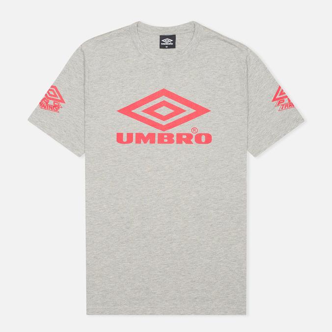 Мужская футболка Umbro Pro Training Classic Coach Crew Grey Marl