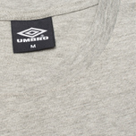 Umbro Pro Training Classic Coach Crew Men's T-shirt Grey photo- 2