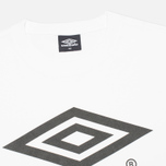 Мужская футболка Umbro Pro Training Classic Coach Crew White фото- 1