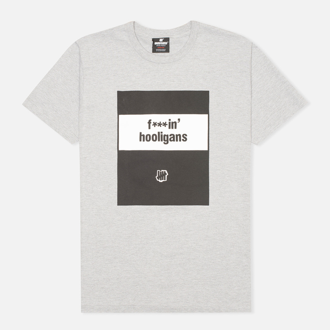 Undefeated Fuckin Hooligans Men's T-shirt Heather Grey