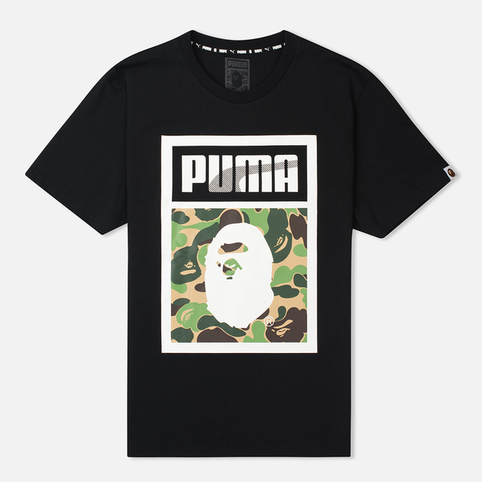 Puma x Bape Logo T-shirt Black
