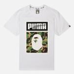 Футболка Puma x Bape Logo White фото- 0