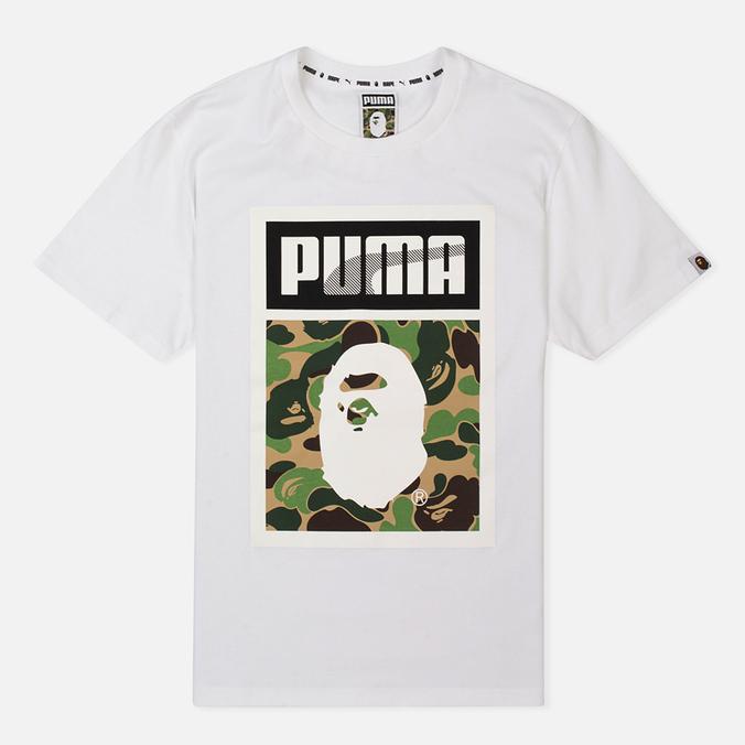 Футболка Puma x Bape Logo White