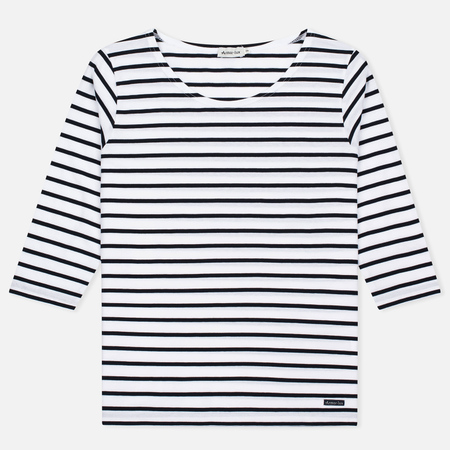 Armor-Lux Cap Coz Breton Women's T-shirt Blanc/Rich Navy