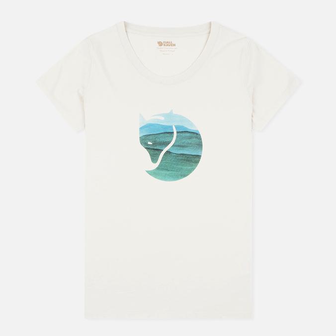 Женская футболка Fjallraven Watercolour Fox Chalk White