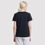 Женская футболка Maison Kitsune Tricolor Fox Patch Black фото- 6