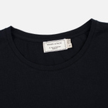 Женская футболка Maison Kitsune Tricolor Fox Patch Black фото- 1