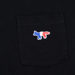 Женская футболка Maison Kitsune Tricolor Fox Patch Black фото- 3