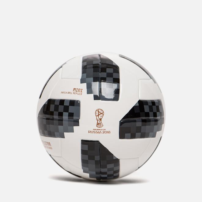 Футбольный мяч adidas Football Telstar FIFA World Cup Mini 2018 White/Black/Silver Metallic