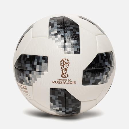 Футбольный мяч adidas Football Telstar FIFA World Cup 2018 White/Black/Silver Metallic