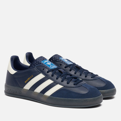 Мужские кроссовки adidas Originals Gazelle Indoor Collegiate Navy/Off White/Grey Six