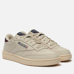 Кроссовки Reebok Club C 85 Alabaster/Vector Navy/Maroon